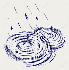 how to draw raindrop in puddle - Google Search