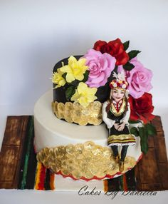 Cake for a friend musician performer of Bulgarian folklore…. Art Cakes, Cake Art, 18th Birthday Cake, Dress Cake, Handmade Cosmetics, Decorated Cakes, Bulgarian, Folklore, Fondant