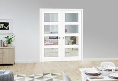 contemporary internal glazed double doors - Google Search