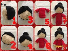 "Chinese cute doll free pattern by ""all about ami"" but ive made some variations hope you guys like it"