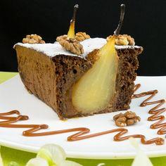 Chec cu pere – un desert cu o delicatețe cum nu ați mai întâlnit până acum! Caramel Apples, Food Art, Food And Drink, Ice Cream, Cookies, Sweet, Recipes, Mai, Garden
