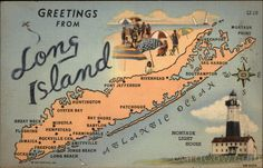 Map of Long Island - Grandmother lived in Freeport, Long Island