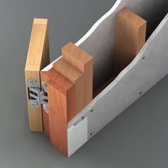 Flush door in trimless opening Glenn Stevens Archinect Detail Architecture, Interior Architecture, Interior Design, Flush Door Design, Invisible Doors, Door Jamb, Door Casing, Flush Doors