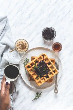 orange thyme waffles recipe | Recipes From A Pantry
