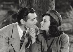 """Hedy Lamarr and Clark Gable in """"Comrade X"""" (1940)"""