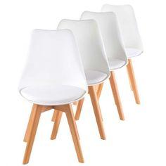 MY SIT Designerstuhl Zura 4er Set Weiß