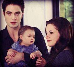 Edward,Bella and Renesmee.
