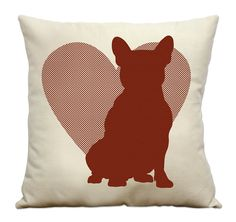 French Bulldog Silhouette and Heart love it!!!!