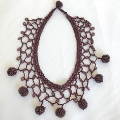 Your place to buy and sell all things handmade Crochet Hairband, Crochet Necklace, Valentine Day Gifts, Valentines, Plum Purple, Beaded Choker, Crochet Hair Styles, Unique Necklaces, Hand Crochet