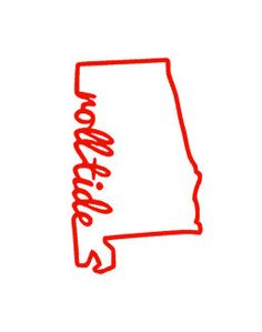 Roll Tide State of Alabama Decal