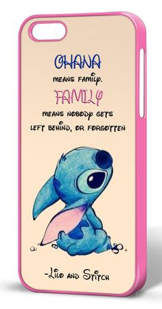 Disney Lilo and Stitch Quote Novelty Hard Case for iPhone 4/4s/5/5s/5c