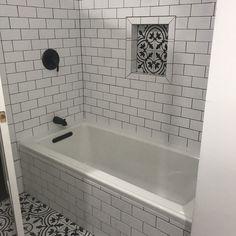 Archer 60 x 30 Soaking Bathtub Bad Inspiration, Bathroom Inspiration, Bathroom Tile Designs, Bathroom Interior Design, Shower Remodel, Bath Remodel, Upstairs Bathrooms, Master Bathroom, Shower Tub