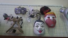 DIY masquerades made of assorted waste items