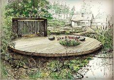 Country garden in Poland.