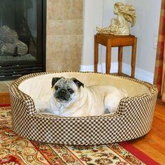 Comfy Round Sleeper Bolster Dog Bed