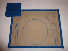 This Montessori-inspired placemat helps children set the table. It comes with a…