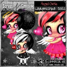 """""""ANGEL CUTIE DOLL"""" by LadyMishka Dolls http://scrapsncompany.com/index.php?main_page=product_info&cPath=161&products_id=7588"""