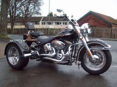 Harley-Davidson Trike Conversion built by DTB Panther Trikes.    http://dtbpanthertrikes.co.uk/ #harleydavidsontrikemotorcycles