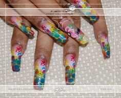 Nail art from the NAILS Magazine Nail Art Gallery, airbrushed, Toe Board, Airbrush Nails, French Nail Art, Nail Art Galleries, Nails Magazine, Love Nails, Art Gallery, Nail Designs, Art Museum