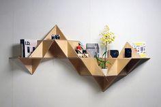 T.SHELF: J1studio's triangular shelf modular