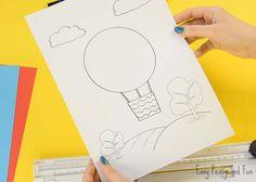 Hot Air Balloon Paper Craft