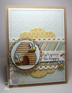 Don't Worry Bee Happy! by Kharmagirl - Cards and Paper Crafts at Splitcoaststampers