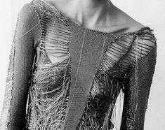 An entry from le petit trianon Dark Fashion, World Of Fashion, Crochet Wool, Grunge Goth, Fashion Details, Fashion Design, Textiles, Knit Fashion, Women's Fashion