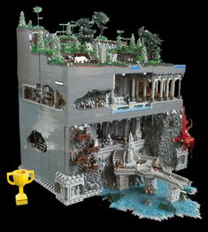 Volsung Hall (Brickvention 2018 Collab Ben and Eli) :: All System MOC's. Built and Displayed for the Melbourne Lego Convention, Brickvention 2018 Star Wars Art, Lego Star Wars, Construction Lego, Lego Pictures, Lego Castle, Lego Room, Lego War, Cool Lego Creations, Lego Design