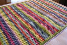 love the colors; maybe I can do in knitted pattern rather than this crochet stitch
