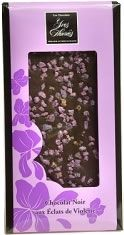 Les Chocolats Yves Thuriés (France) - Dark Chocolate Bars with Crystallized Violets and Rose Petals