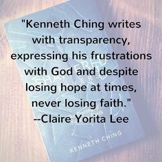 """""""Kenneth Ching writes with transparency expressing his frustrations with God and despite losing hope at times never losing faith. He reminds us that although God doesn't always work the way we expect him to he still loves us and our children even more than we can imagine."""" --Claire Yorita Lee  #reading #freebook #booklove #bookstagram #memoir #shatteredprayers #bookgiveaway #books #bookshelf #book"""