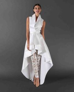 Randi Rahm Fall 2017 Wedding Dress Collection | Martha Stewart Weddings – Sleeveless twop-iece wedding suit