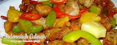 Babi Manis dan Masam - Pork with pineapple in a sweet 'n sour sauce Indonesian Food, Indonesian Recipes, Kung Pao Chicken, Pineapple, Asian, Dishes, Ethnic Recipes, Dutch, English