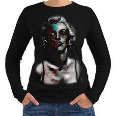 Devil Casual Design Wellcoda Die Rock Metal Goth Womens Long Sleeve T-shirt