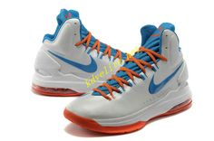 Home White Blue Orange Nike Zoom KD V 554988 100