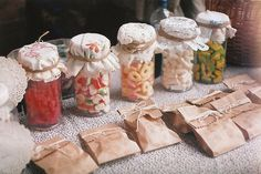 Such a charmingly sweet, vintage inspired way to present candy.