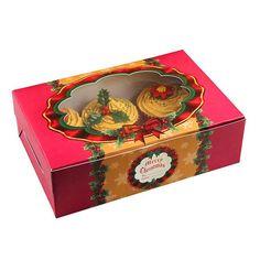 """Cupcake- und Muffin-Box """"Weihnachtliche Gaben"""" 2er Pack #Weihnachtbäckerei #ChristmasCupcakes #Wichtelgeschenk"""