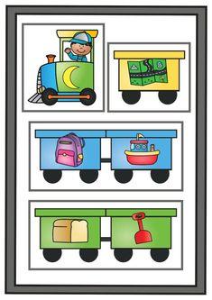 Thema vervoer; spellen voor kleuters | Klas van juf Linda Transportation, Comics, Games, School, Books, Alphabet, Libros, Book, Gaming