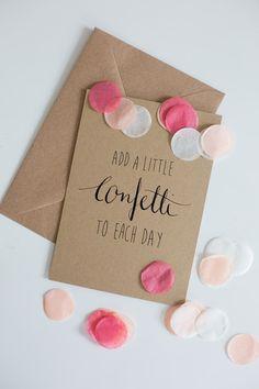 """Kraft-Karte """"Confetti"""" mit Umschlag und Konfetti von Stennie Photography auf DaWanda.com"""