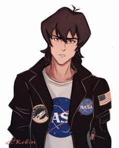 Nothing special, just frown Keith, lether jacket, space theme… Classic)