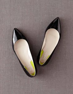 The pointed toe patent flat is the perfect substitute if you aren't feeling like sky high heels this year!