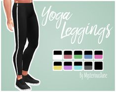 """mysteriousdane:  """" Yoga Leggings A pair of leggings for all your yoga loving dudes out there! ;^D I quickly made these since I was inspired by my original character who's a yoga instructor! They work on female frames, too, though they're a bit low..."""