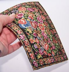 Miniature hand stitched carpet for by WhimsyWooMiniatures on Etsy