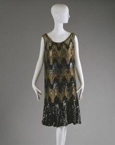 1926-7 beaded Chanel flapper dress.