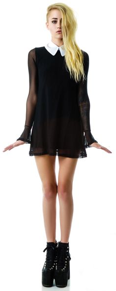 Sheer Wednesday Dress // wish it was about 4 inches longer though...