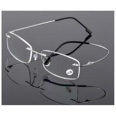 9b8c628fe09 Brand TR90 Rimless Ultra Light Glasses Frame Reading Glasses Fashion  Eyeglasses 1.0-4.0