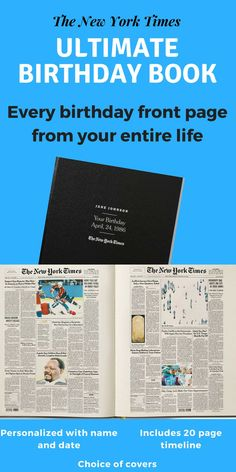 The New York Times Ultimate Birthday Book Is Perfect Present For Any Senior