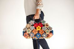 Bag With Colorful Flower by Afra by afra on Etsy, $120.00