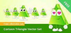 Cartoon Styles, Cute Cartoon, Free Vector Clipart, Triangle Vector, Clip Art, Cute Comics, Pictures