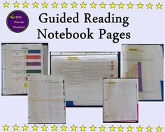 FREE! These Guided Reading Notebook Forms are a great way to organize your guided reading notebook and guided reading data.